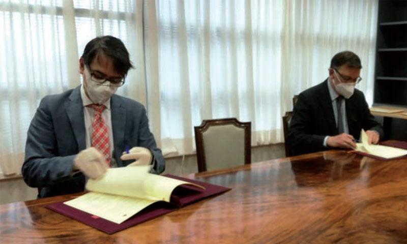 José Ángel Martínez Sanchiz (derecha) y Juan Duarte